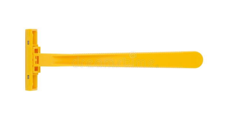 Goedkoop geel scheermes royalty-vrije stock afbeelding