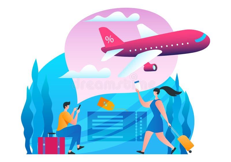 Goedkope Vluchtenbanner vector illustratie