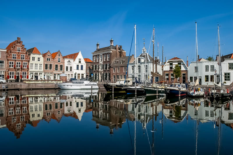 Goes harbour in the Netherlands royalty free stock photo