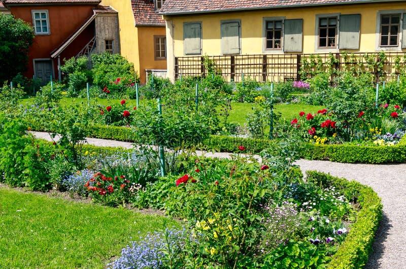 GoetheÂ的庭院在威玛,德国 图库摄影