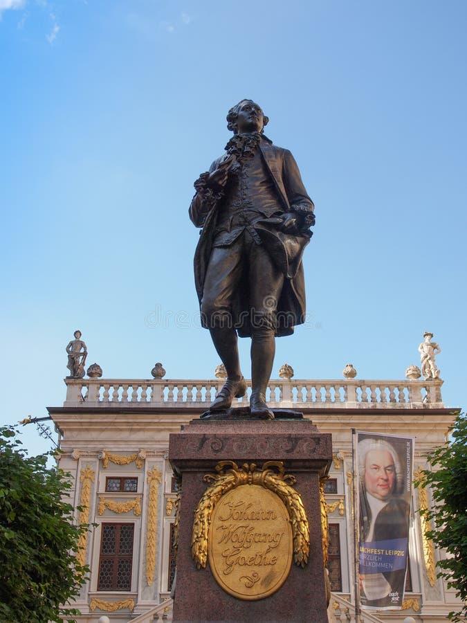 Goethe Denkmal Leipzig foto de stock