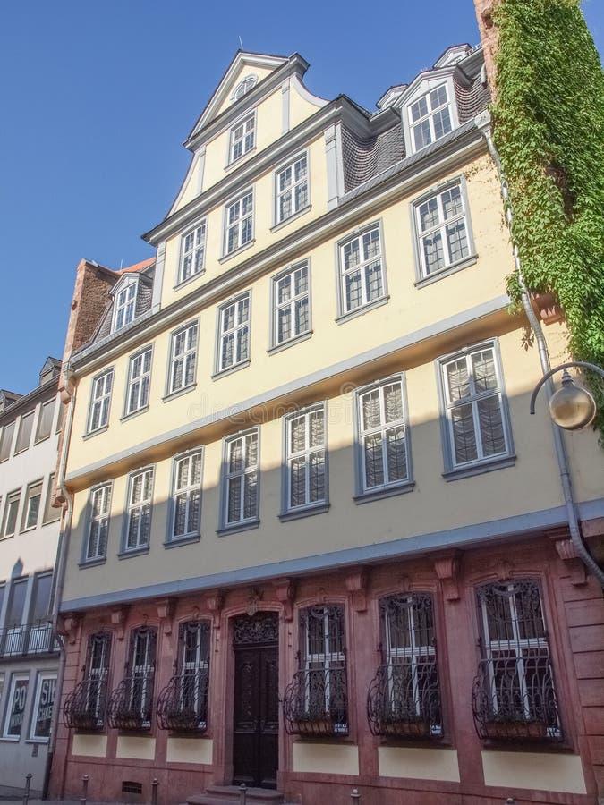 Goethe Haus, Francoforte fotografia stock