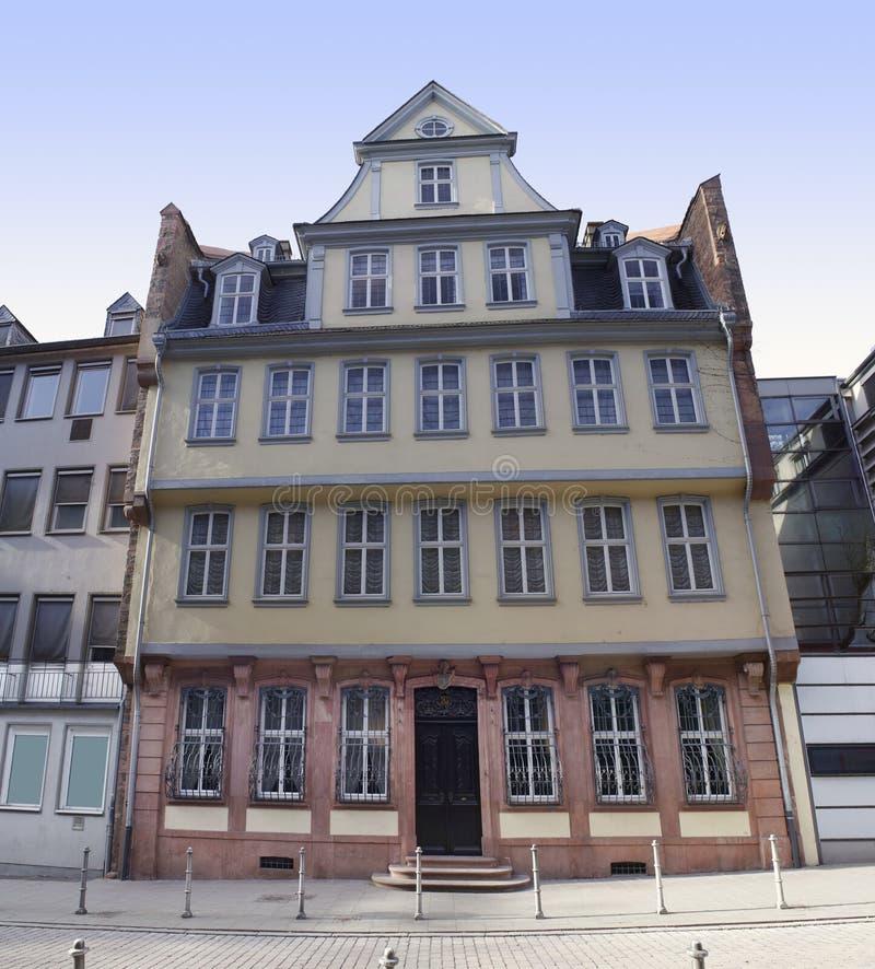 goethe house in frankfurt stock image image of house 50463183. Black Bedroom Furniture Sets. Home Design Ideas
