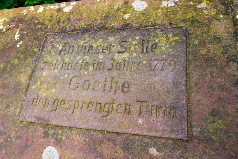 Goethe i slotten av Heidelberg arkivfoton