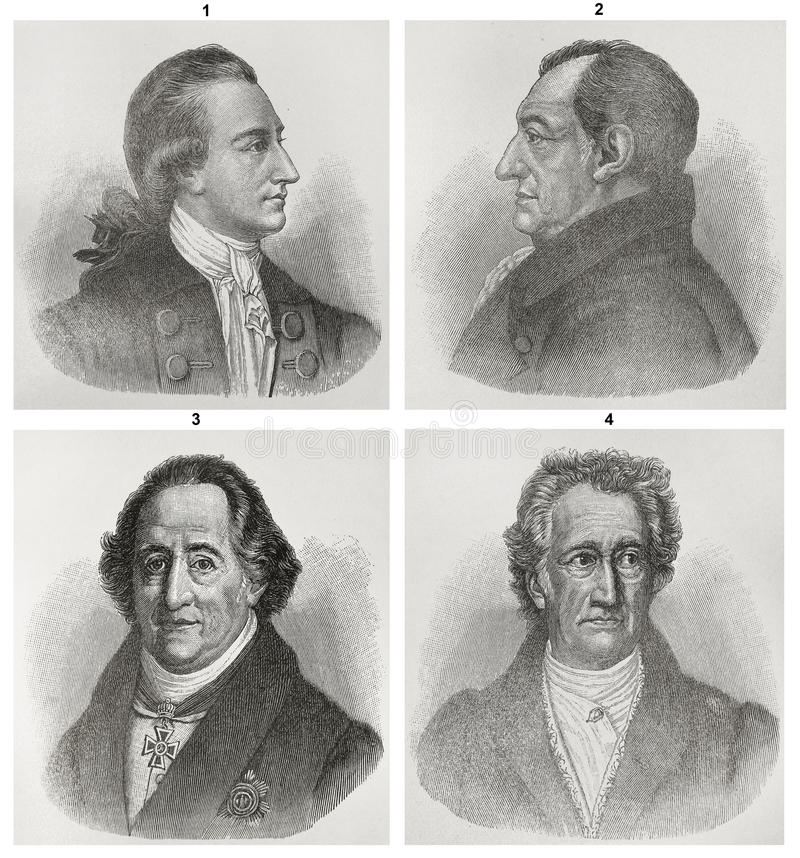 goethe Johann Von Wolfgang royalty ilustracja