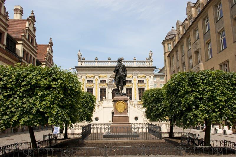 Goethe in Leipzig royalty-vrije stock afbeeldingen