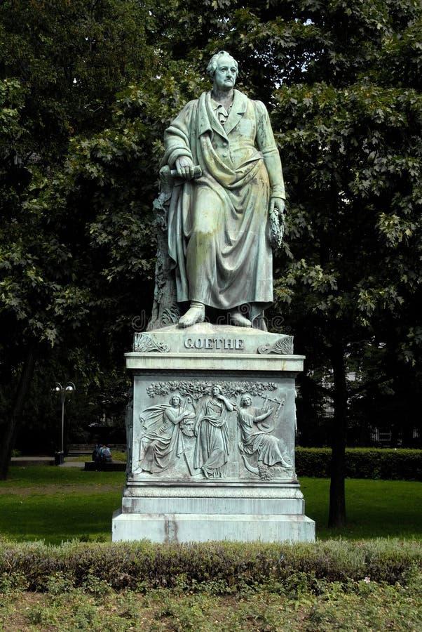 Goethe monument royalty free stock photography