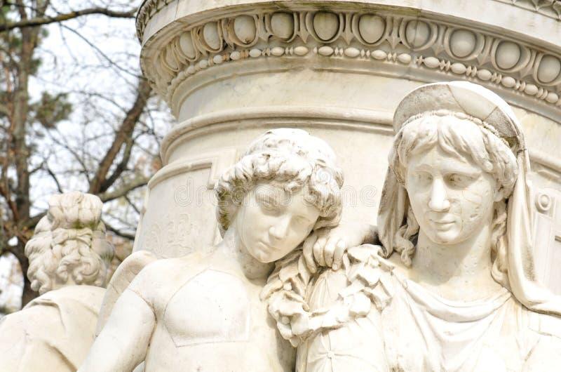 Goethe-Monument stockfotos