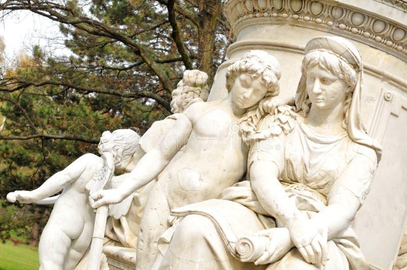 Goethe-Monument stockbilder