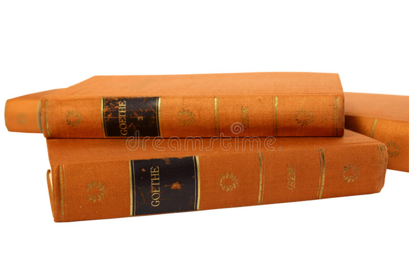 Goethe's książki zdjęcie stock