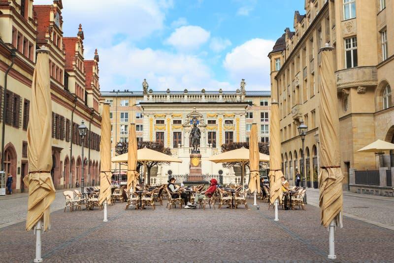 Goethe zabytek Leipzig fotografia stock