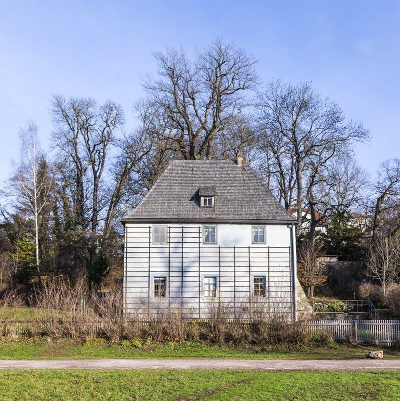 Goethes-Garten-Haus am Park ein der Ilm in Weimar, Deutschland stockfoto