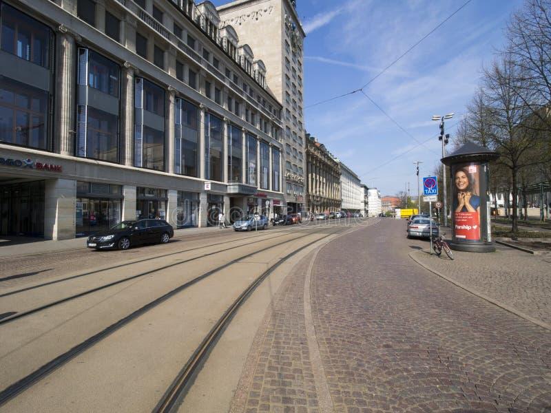 Goethestrasse street, Leipzig, Germany stock photography
