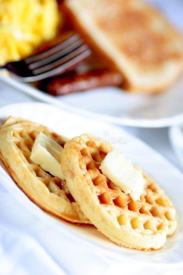 gofr śniadanie fotografia stock