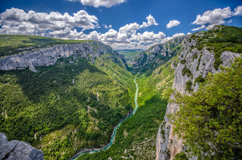 Goges du verdon (维登峡谷),法国 库存图片