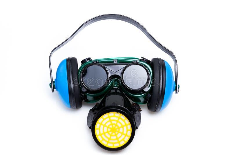 goggles för försvarareörakugghjul maskerar säkerhet royaltyfri bild