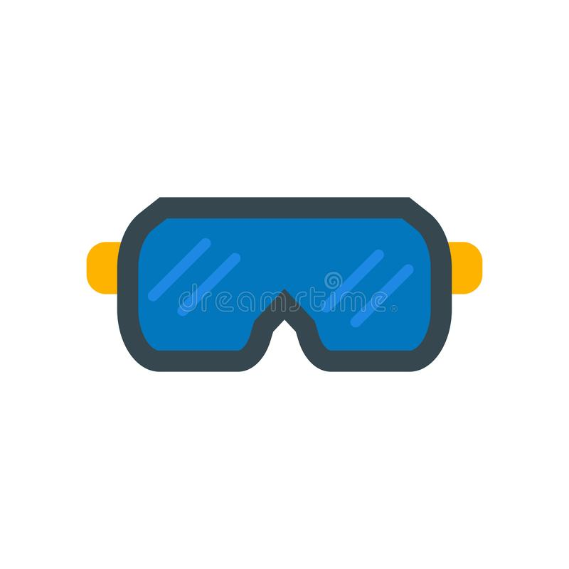 Goggles icon vector isolated on white background, Goggles sign vector illustration