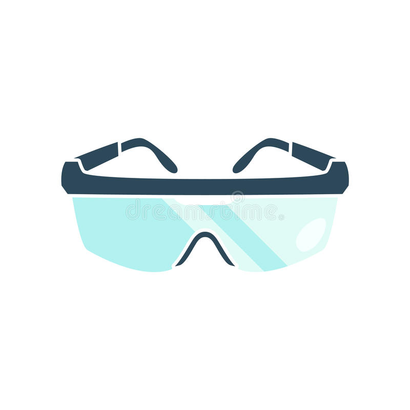 Goggles on white background stock image