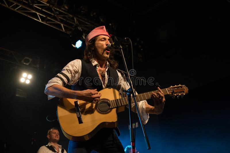 Gogol Bordello in Live Music Club MI 02-12-2017 stock afbeeldingen