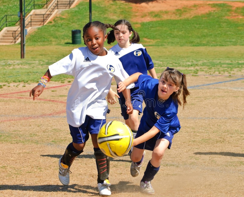 Download Going for the Ball editorial stock photo. Image of active - 14208988
