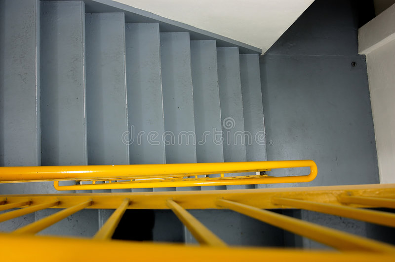 Download Going Down Stairs stock image. Image of railing, safty - 196065