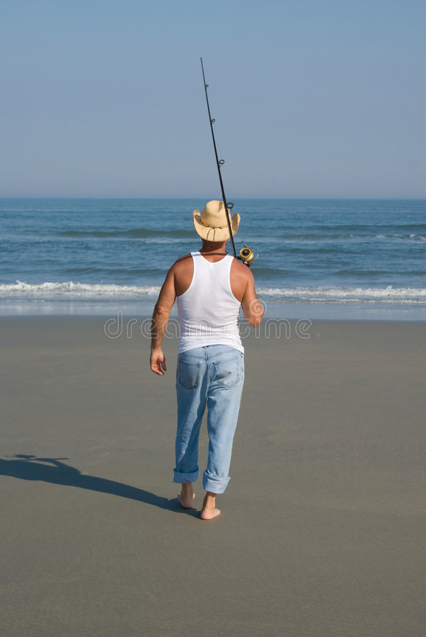 Download Going Fishing stock image. Image of sand, athletic, blue - 5528921
