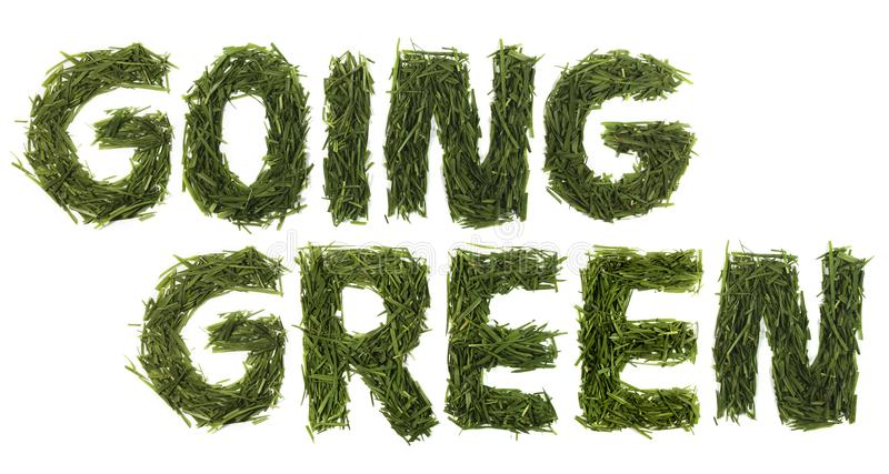 Going Green Grass. Isolated think green grass on a white background royalty free stock images