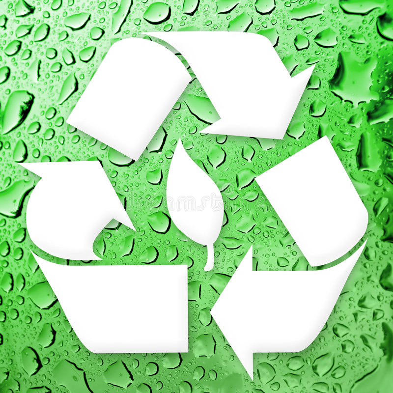 Going Green Recycling stock illustration