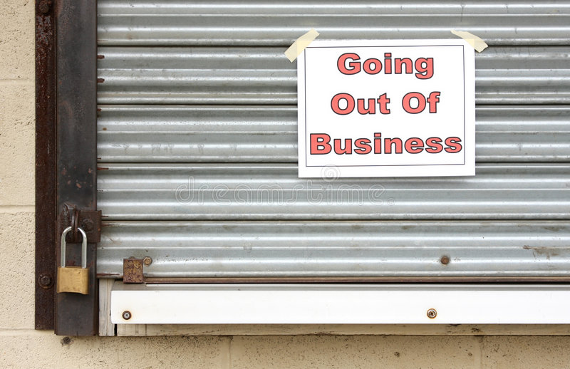 Going Out of Business royalty free stock photos