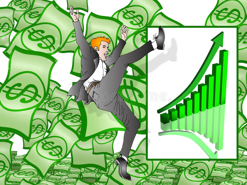 Going rich stock illustration