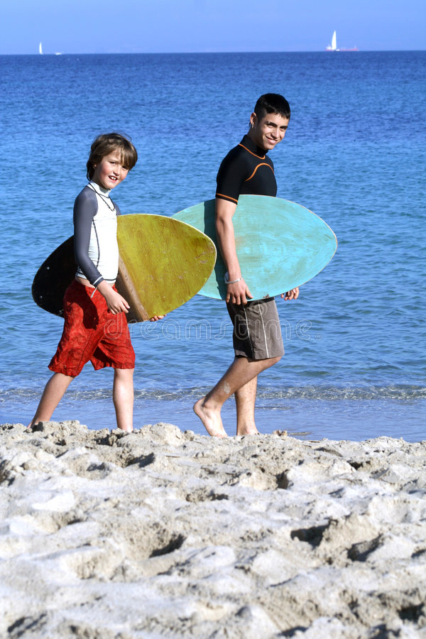 Going surfing stock images