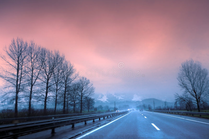 Download Going to the Alps stock image. Image of abstract, destination - 7442429