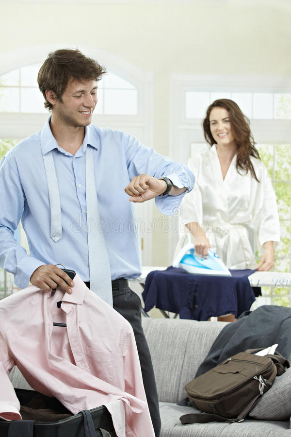 Going to business trip stock images