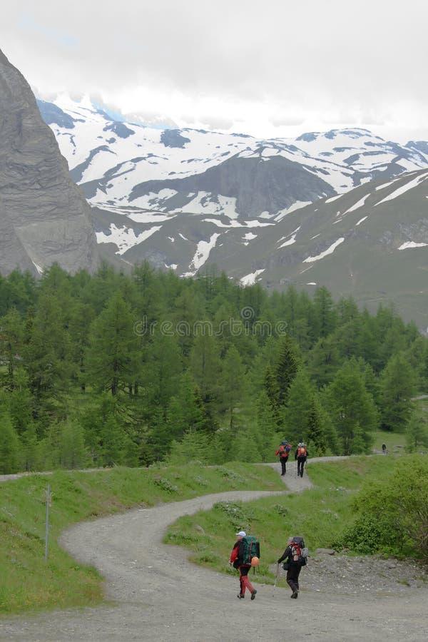 Going to climb, Koednitz Valley, Austria royalty free stock image