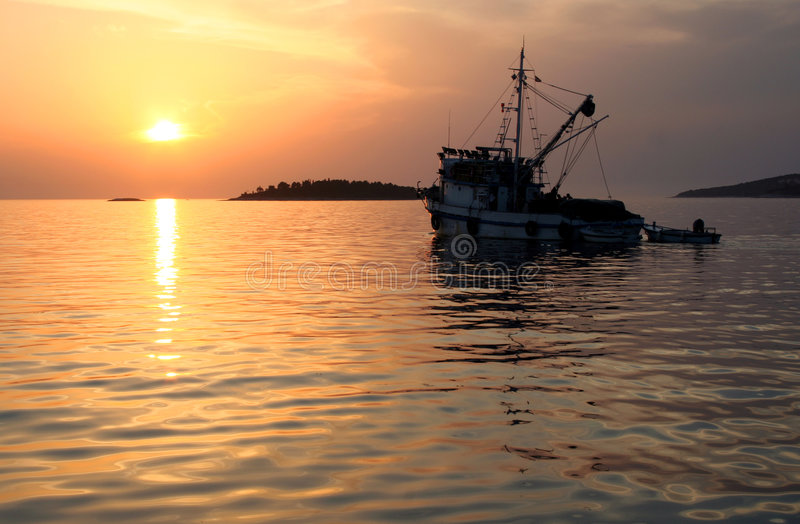 Going to fishing royalty free stock image