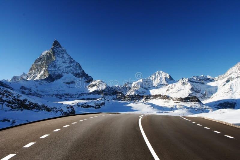 Going to Matterhorn stock photography