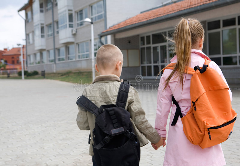 Going to school royalty free stock photo