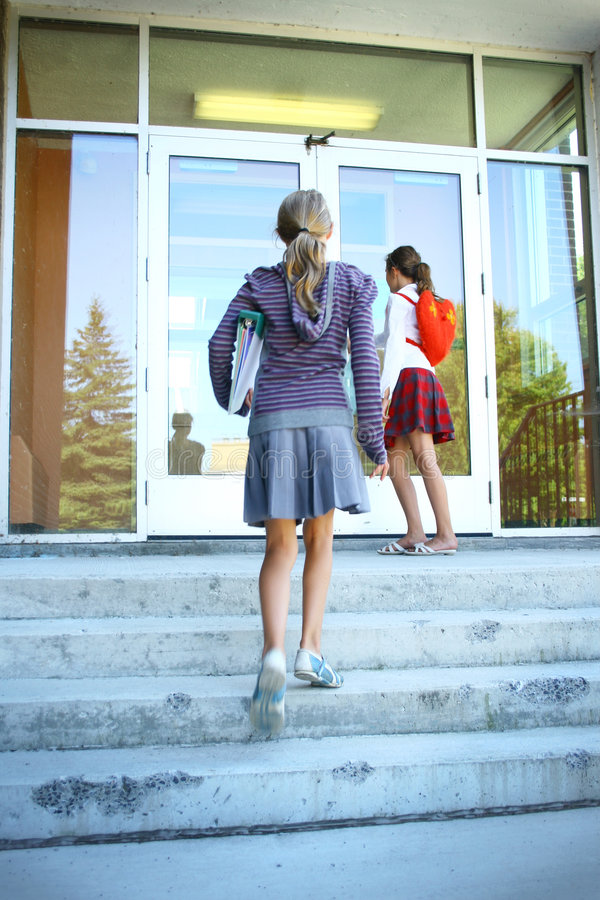 Download Going to School stock photo. Image of female, books, teenagers - 6346726