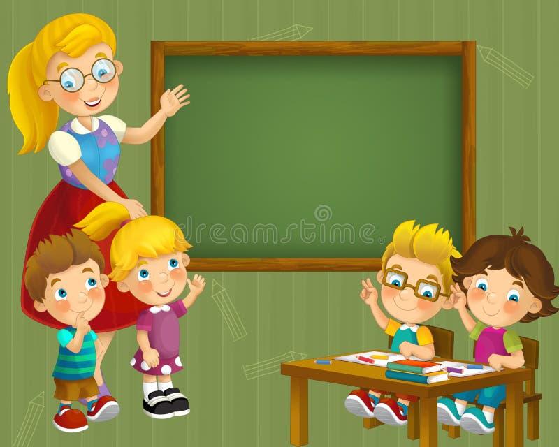 Download Going To School - Illustration For The Children Stock Illustration - Image: 30885029