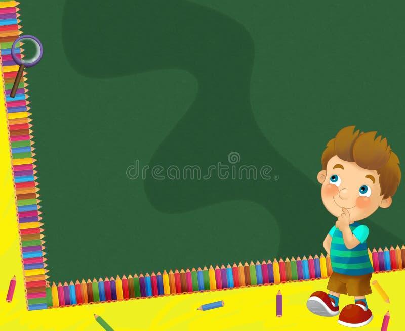 Download Going To School - Illustration For The Children Stock Illustration - Image: 30885407