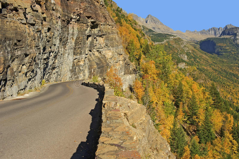 Going-to-the-Sun-Road, Glacier National Park stock photography