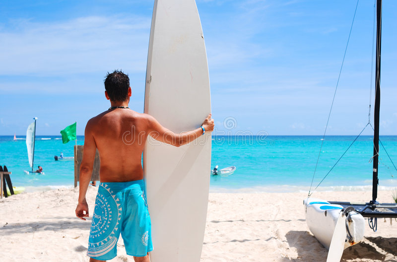 Going to surf royalty free stock photo