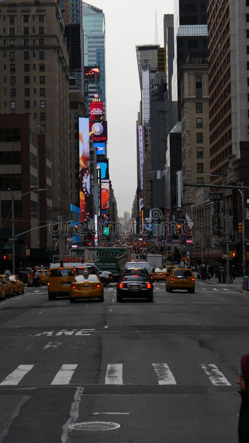 Going to times square royalty free stock photo