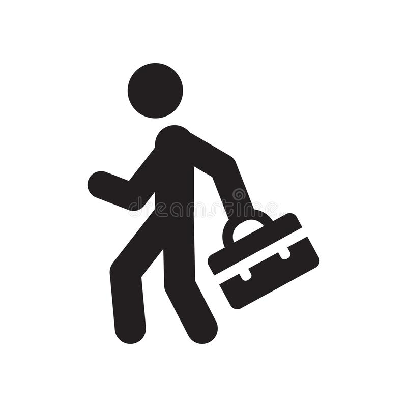 Going to work icon. Trendy Going to work logo concept on white b. Ackground from People collection. Suitable for use on web apps, mobile apps and print media vector illustration