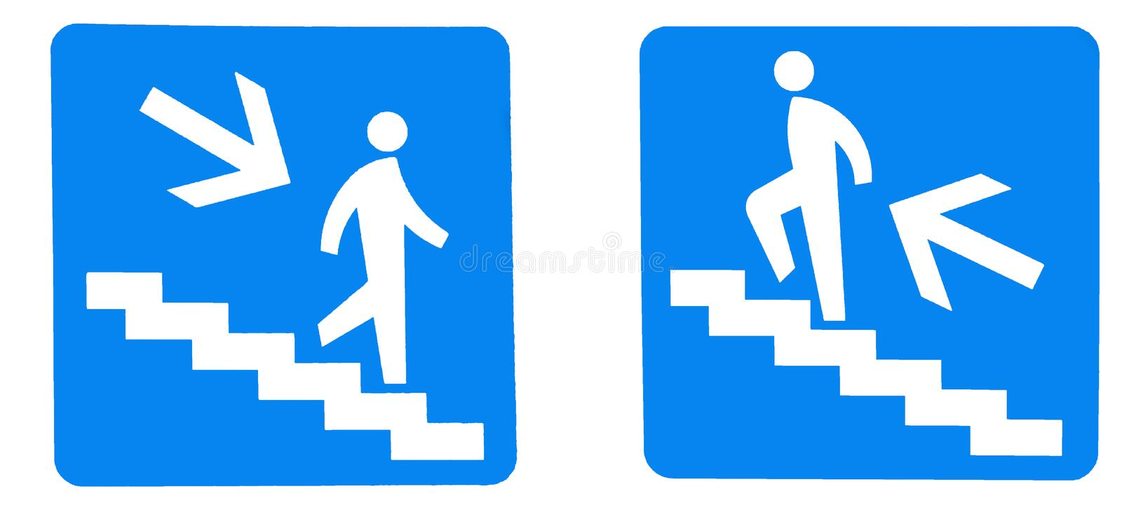 going up and down Sign royalty free stock photos