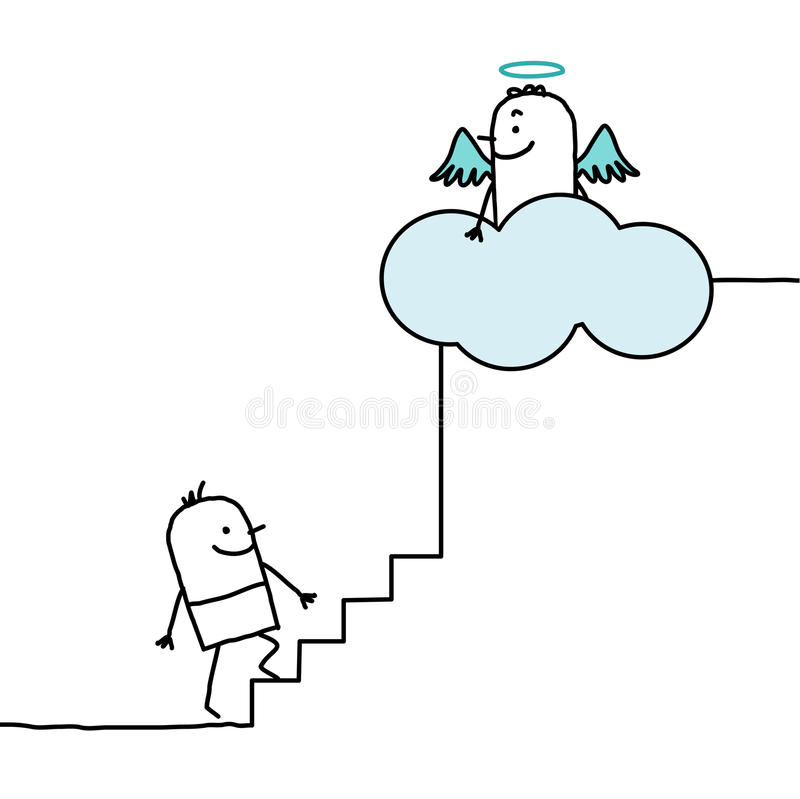 Download Going up to heaven stock vector. Image of pure, drawing - 14857107