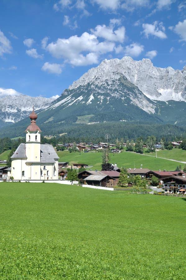 Going am Wilden Kaiser, Tirol, Oostenrijk royalty-vrije stock foto