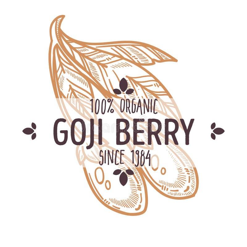 Goji莓果被隔绝的象有机异乎寻常的食物 皇族释放例证