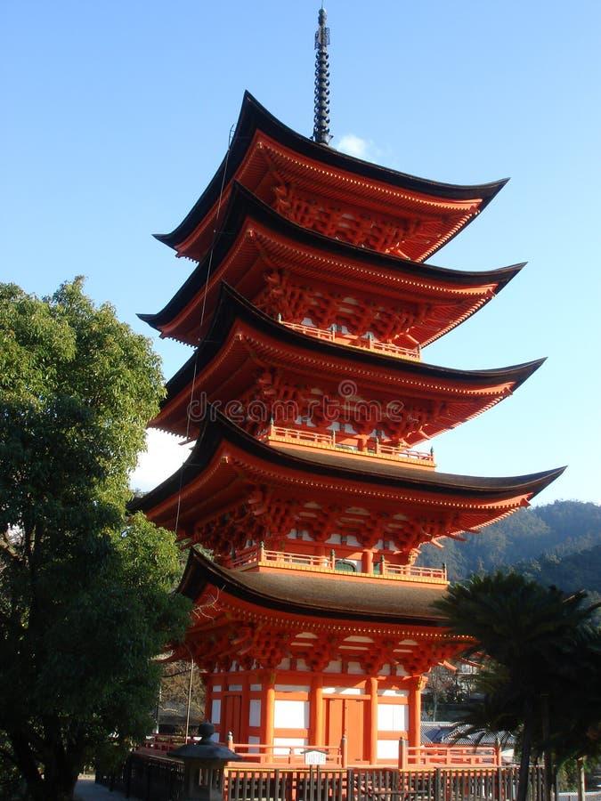 Goju-no-to Pagoda, Miyajima stock image