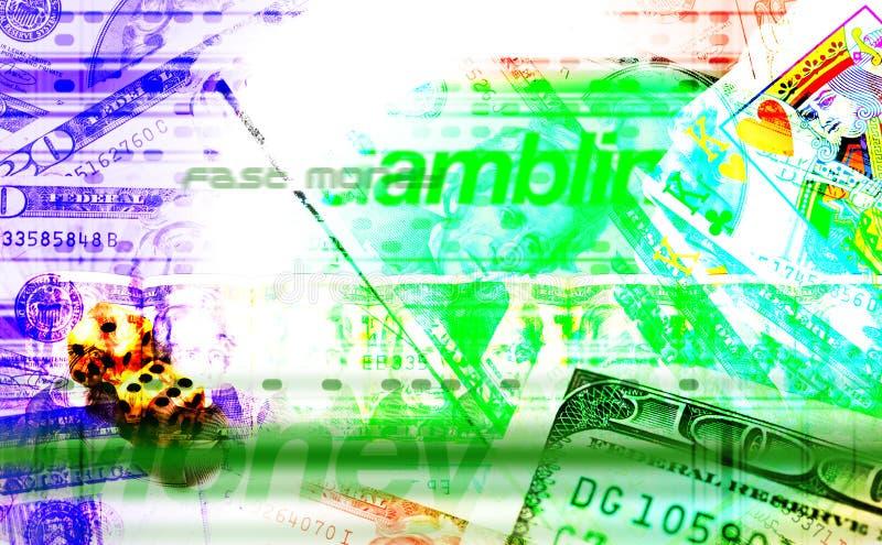 Gok & Van het Achtergrond geld textuur stock illustratie